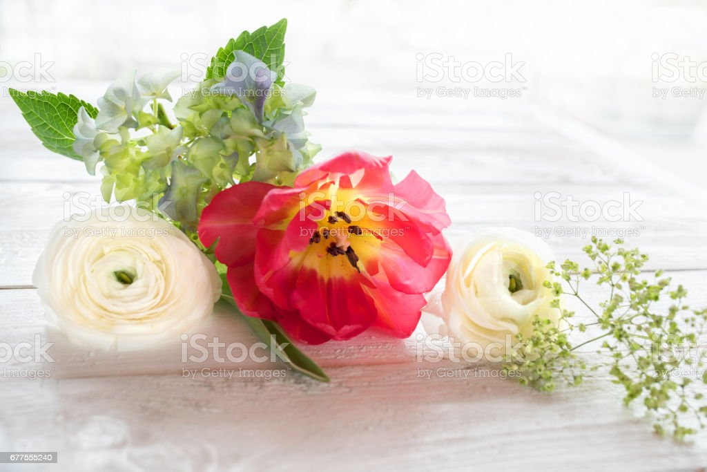 Flower decoration in vintage style stock photo