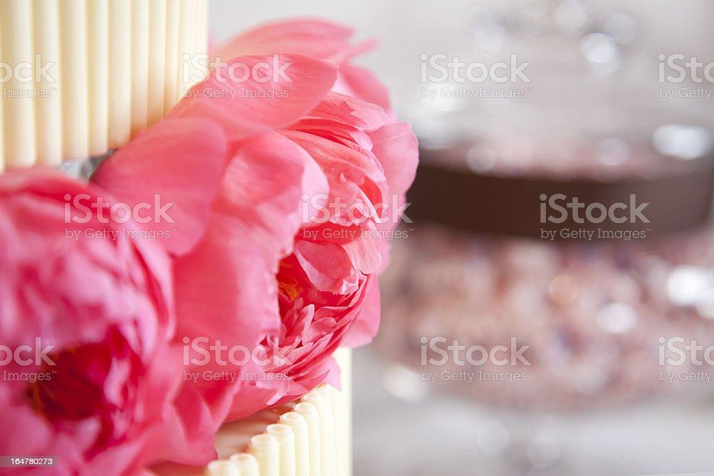 Flower Decoration on Cake royalty-free stock photo