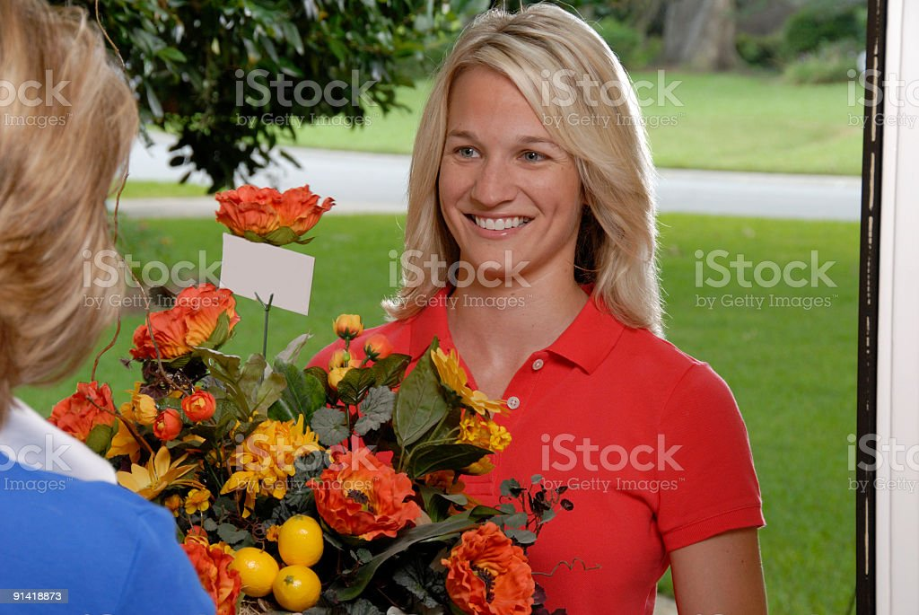 Flower Delivery royalty-free stock photo