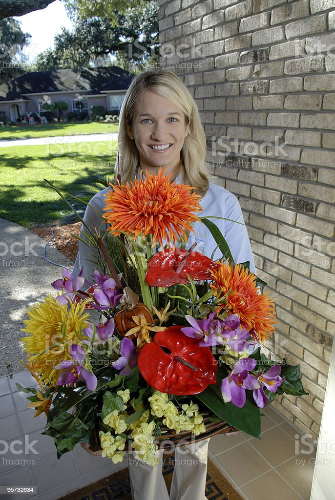 Flower Delivery. stock photo