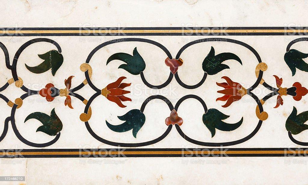flower detail at Taj Mahal, India royalty-free stock photo
