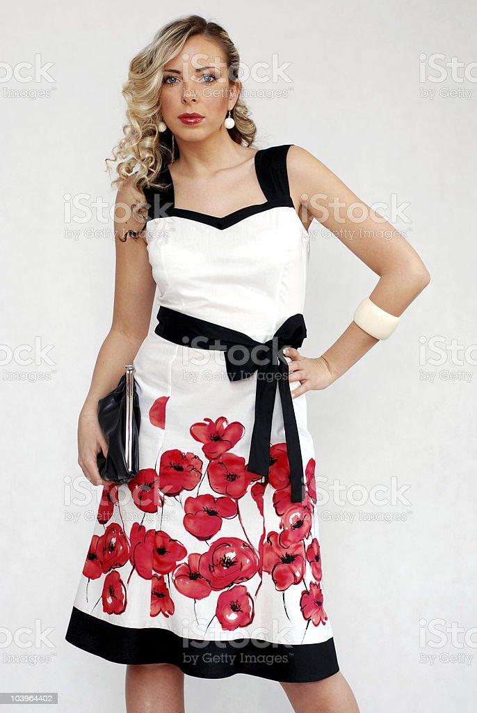 Flower dress stock photo
