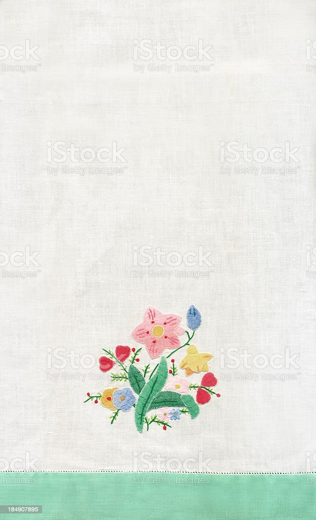 Flower Embroidery I royalty-free stock photo