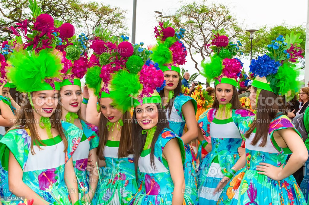 Flower Festival on the Madeira Island, Portugal. stock photo