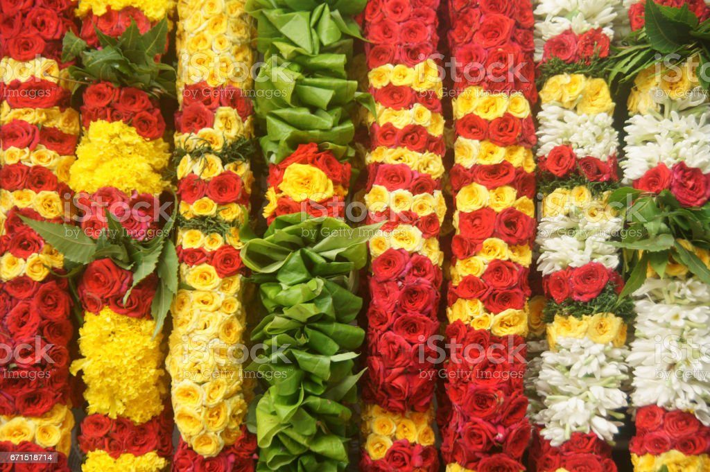 Flower garlands - Background stock photo