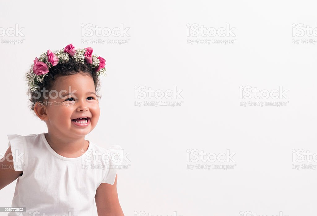 Flower Girl. stock photo