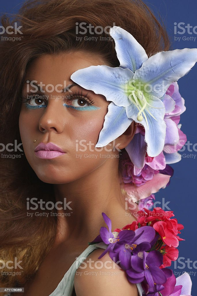 Flower girl portrait royalty-free stock photo