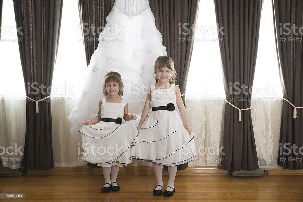 Flower Girls stock photo