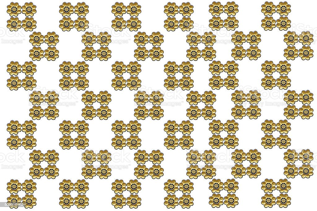 Flower gold  pattern close stock photo