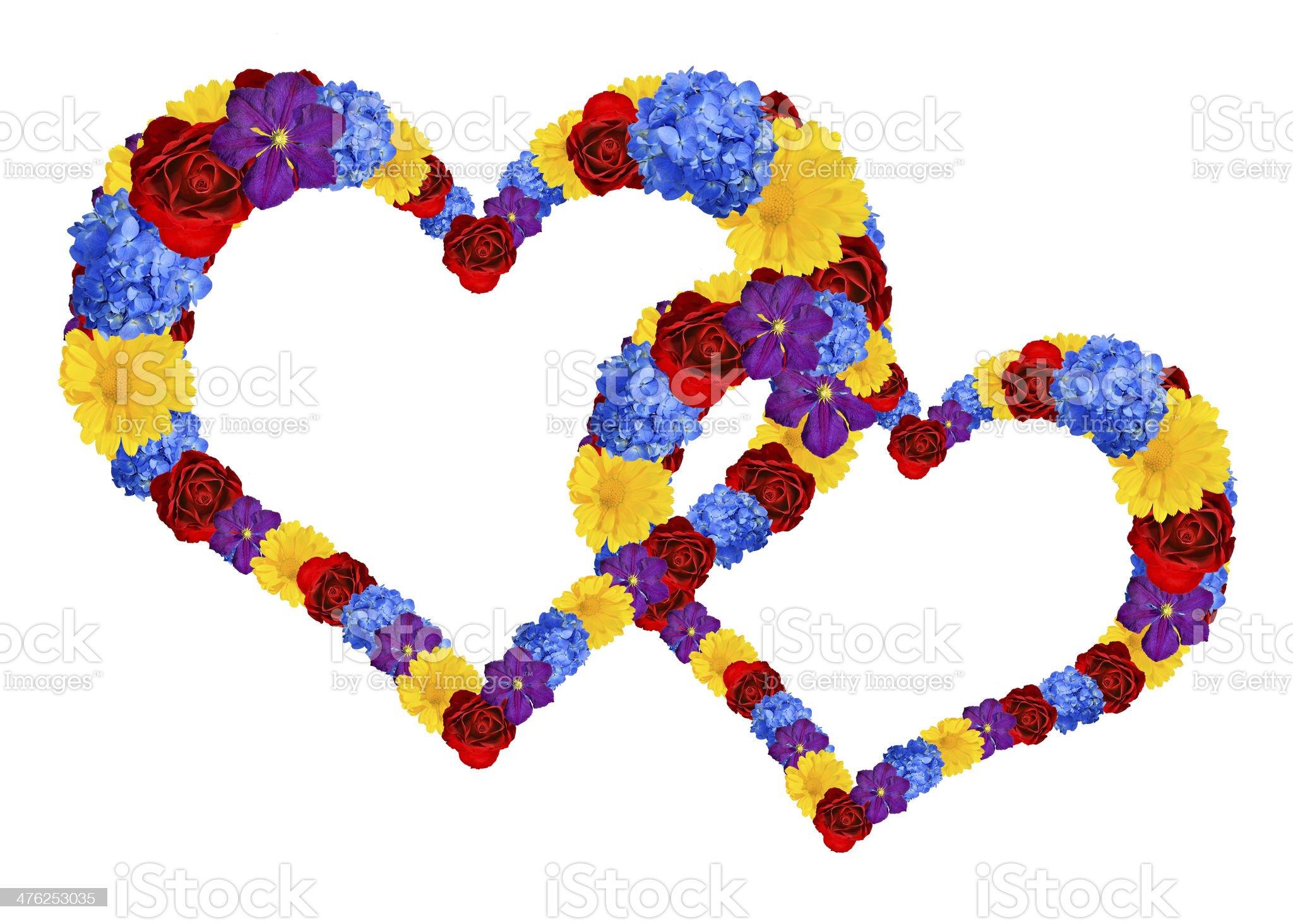 flower heart royalty-free stock photo