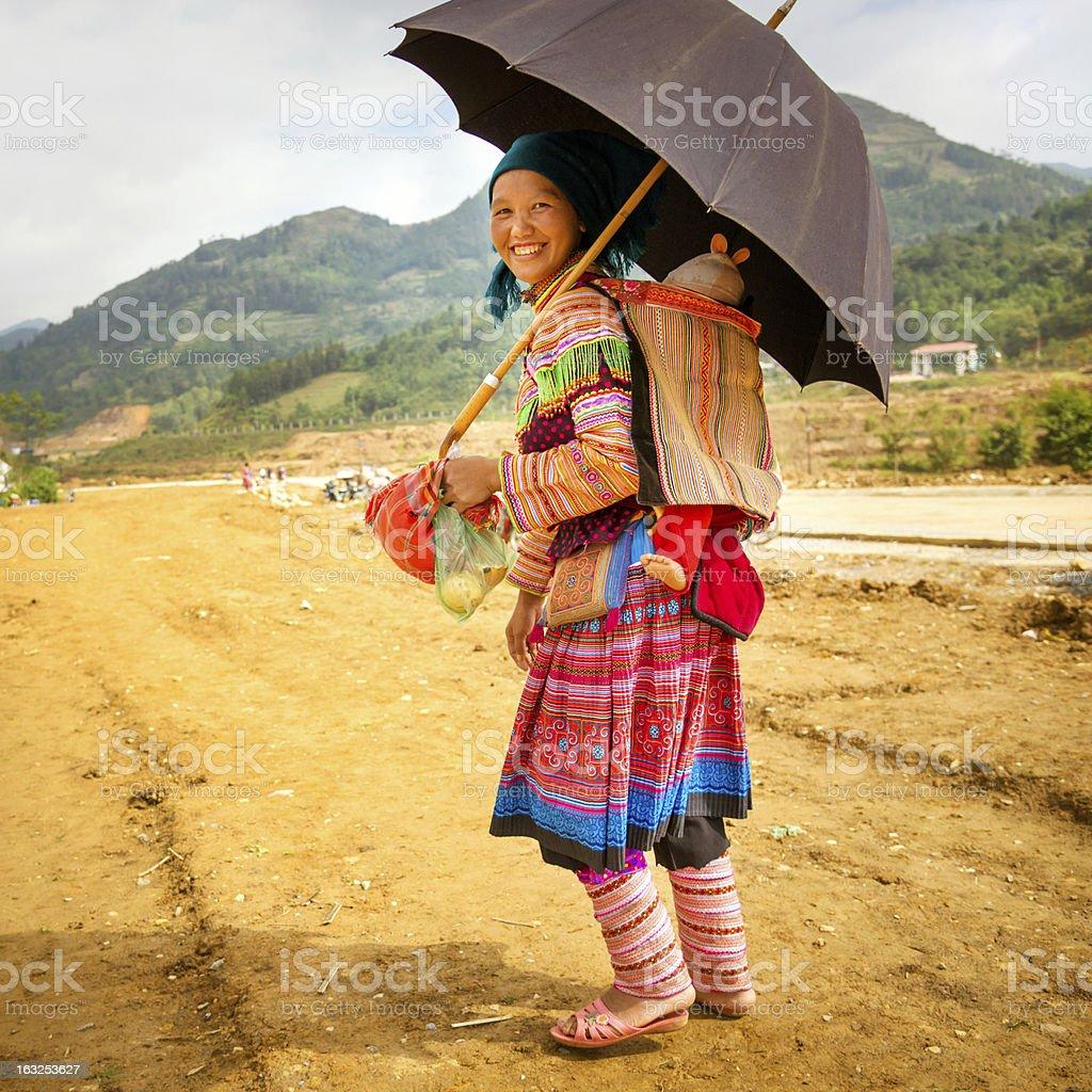 Flower Hmong Tribe, Vietnam stock photo