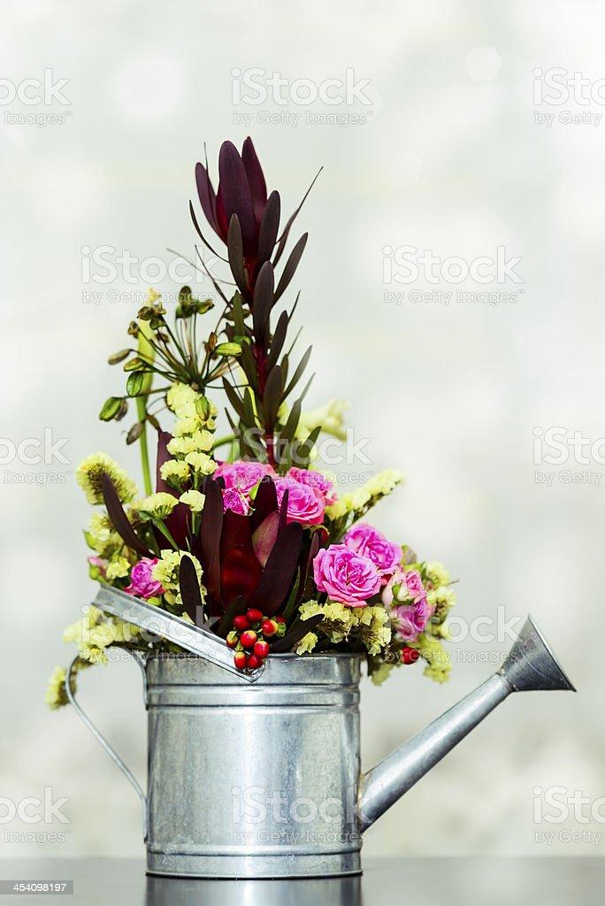 flower in sprinkler royalty-free stock photo