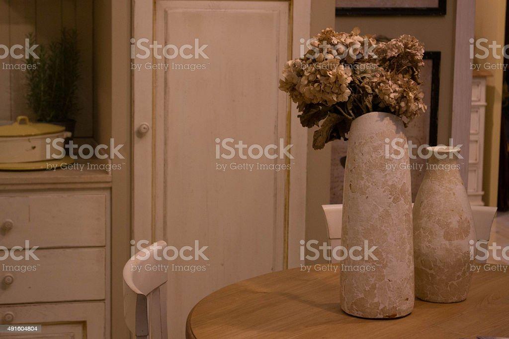 Flower in the kitichen stock photo