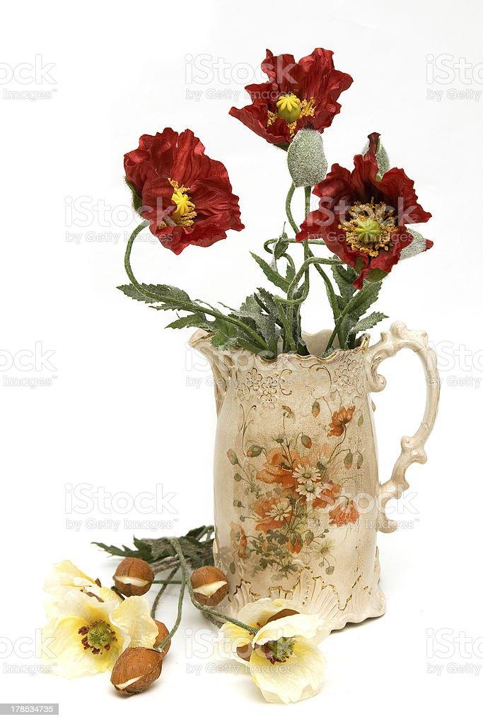 Flower jug stock photo