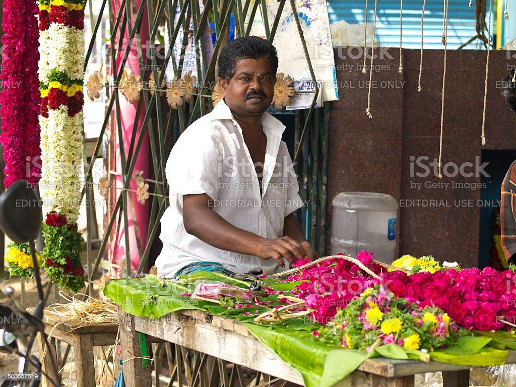 Flower kiosk stock photo