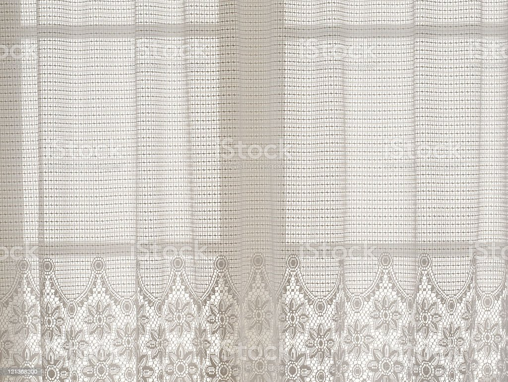 Flower lace curtain stock photo