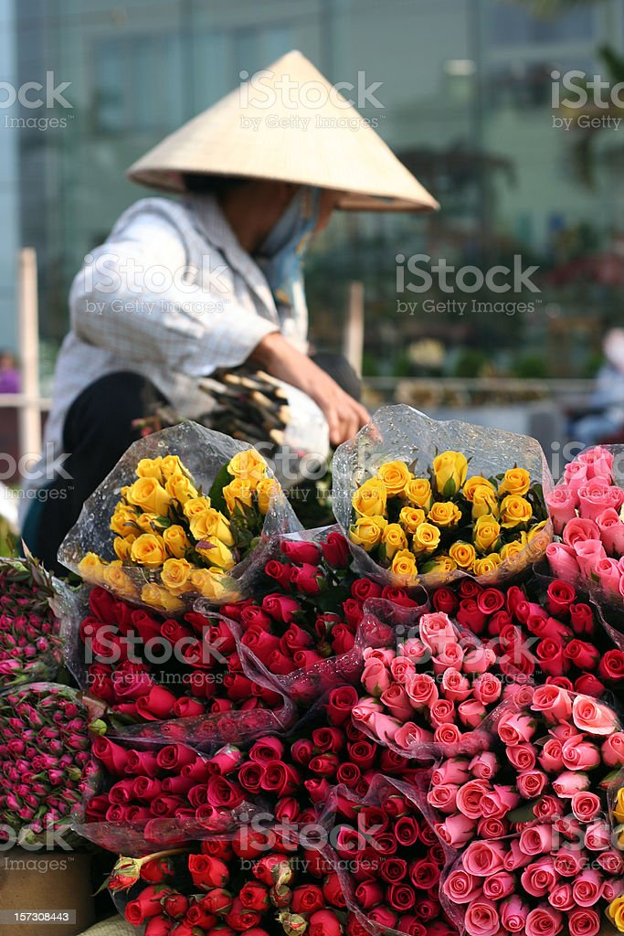 flower lady royalty-free stock photo