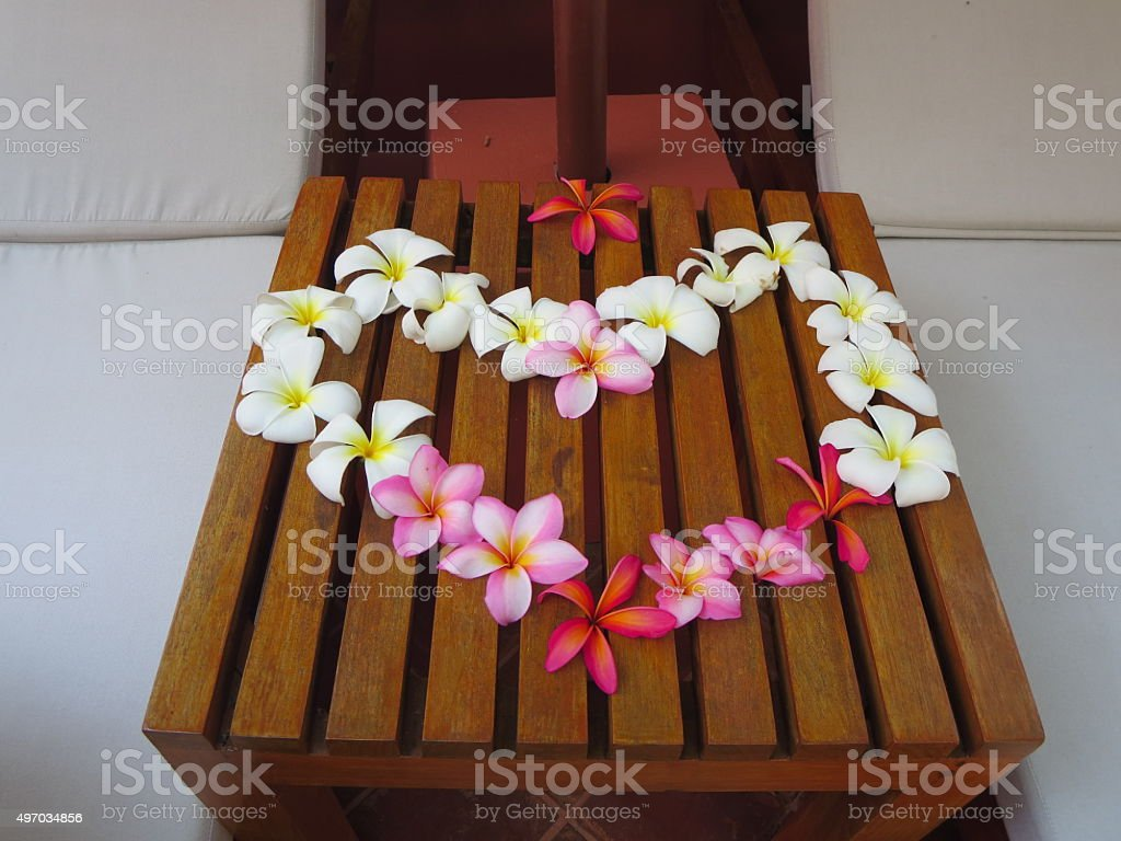 Flower Lei in Thailand stock photo
