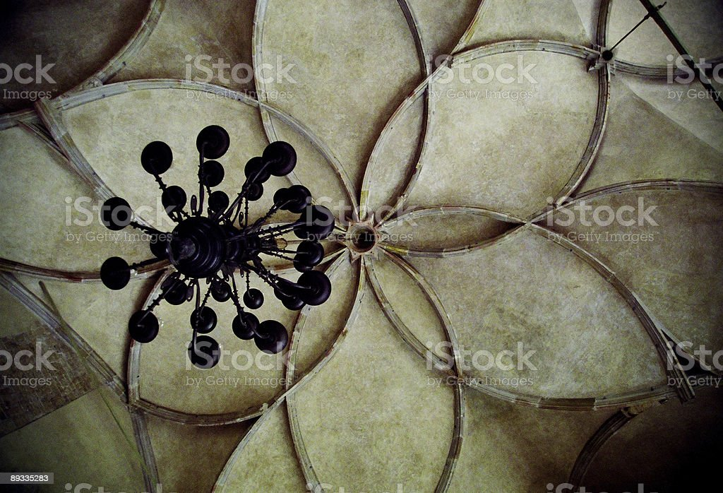 Flower Like Ceiling Abstract royalty-free stock photo