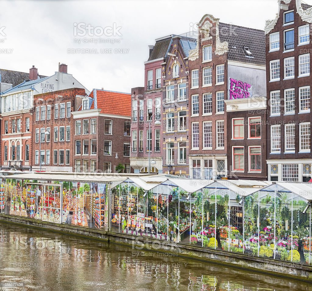 Flower Market, Amsterdam stock photo