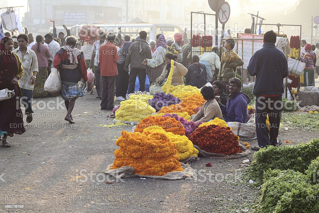 Flower market in bangalore royalty-free stock photo