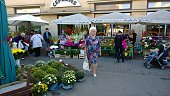 Flower market in Latvia