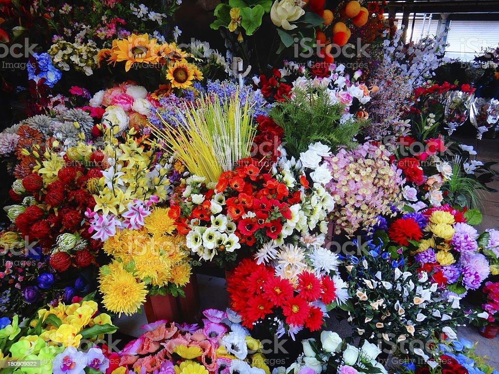 Flower Market Stall royalty-free stock photo