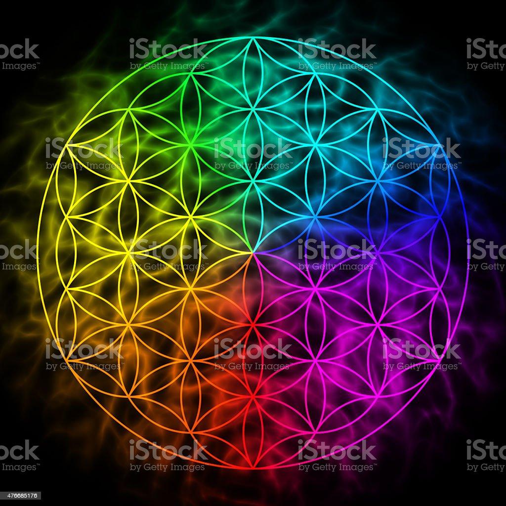 Flower of life - symbol of sacred geometry stock photo