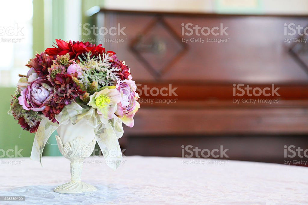 Flower of the table foto de stock libre de derechos