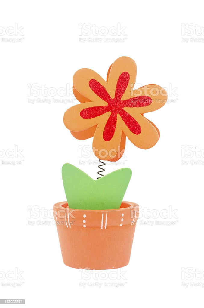 flower  paperclip royalty-free stock photo