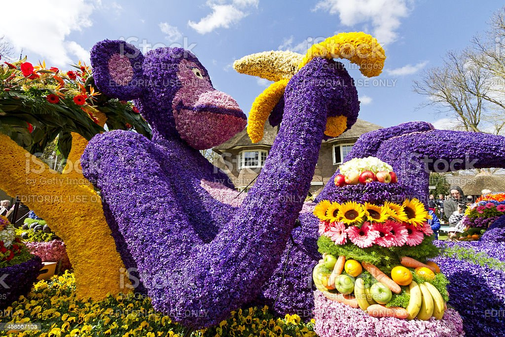 Flower Parade stock photo
