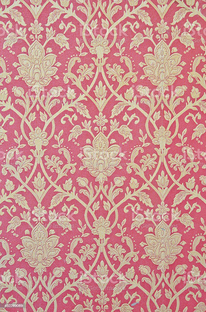 flower pattern in traditional Thai style royalty-free stock photo
