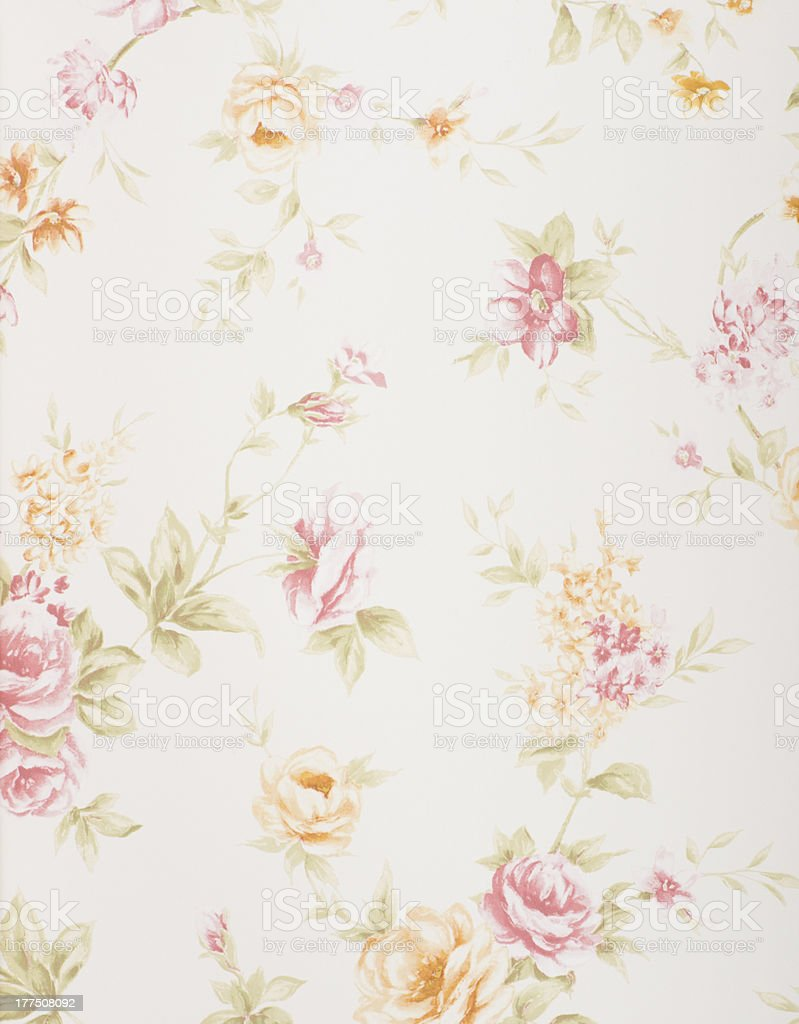 A flower patterned type of wallpaper  royalty-free stock photo