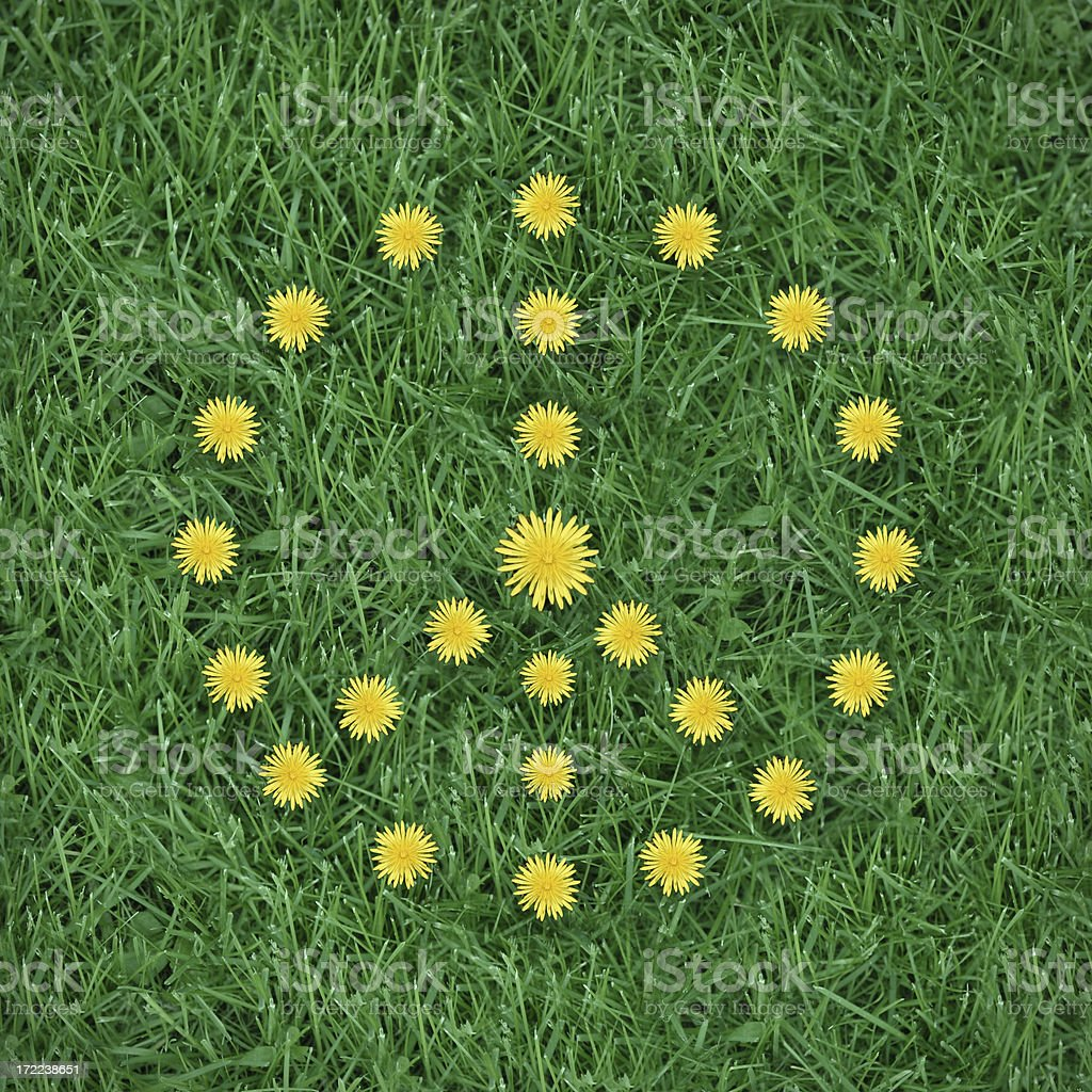 Flower Peace Symbol royalty-free stock photo