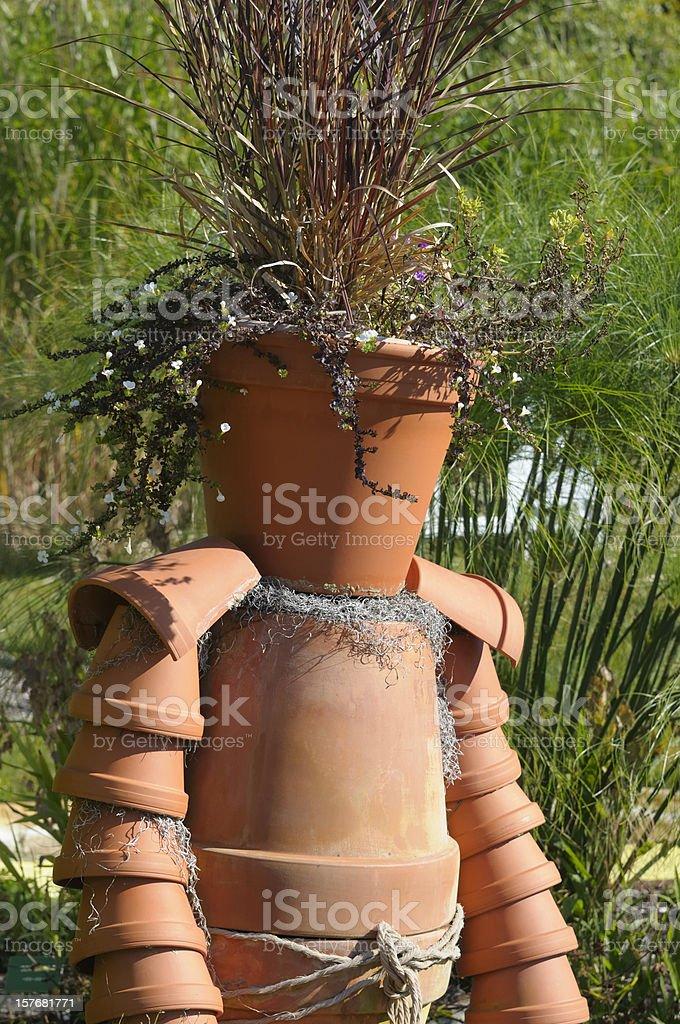 Flower Pot Man royalty-free stock photo