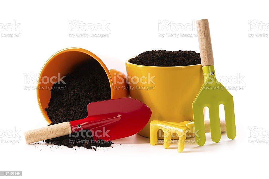 flower pots royalty-free stock photo