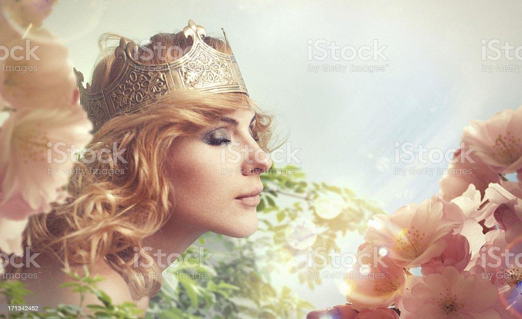 Flower Queen stock photo