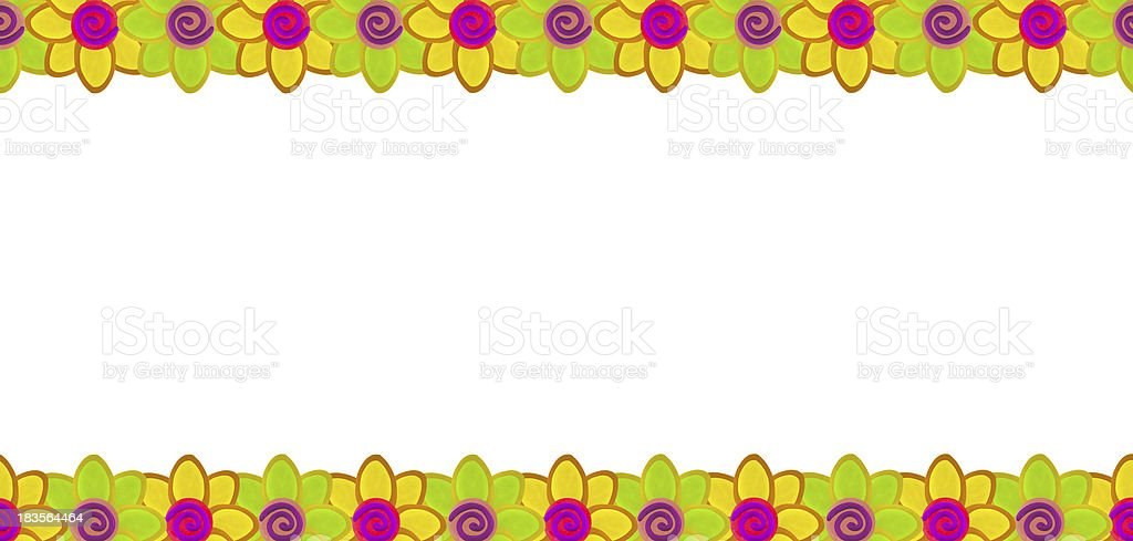 Flower row made from clay royalty-free stock photo