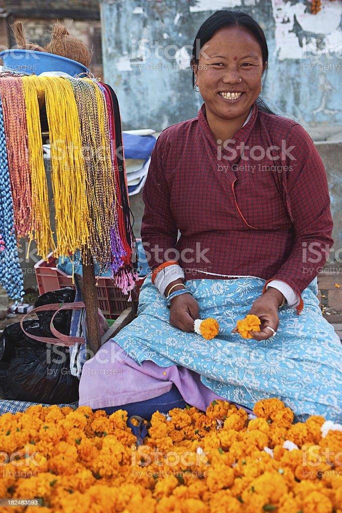 Flower seller royalty-free stock photo
