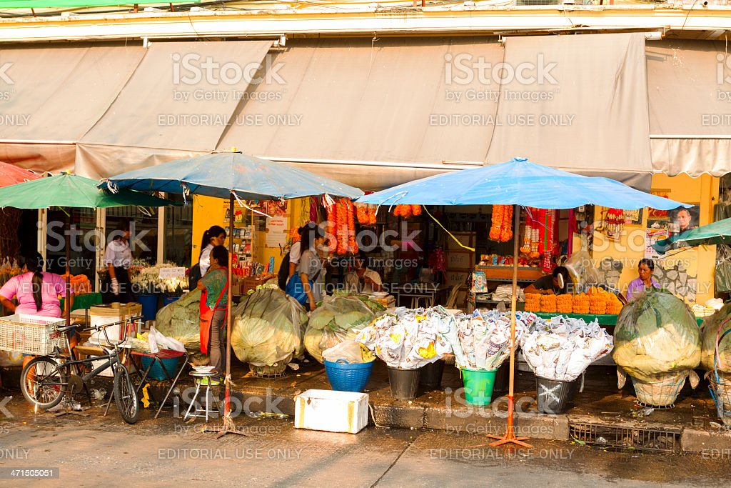 Flower sellers royalty-free stock photo