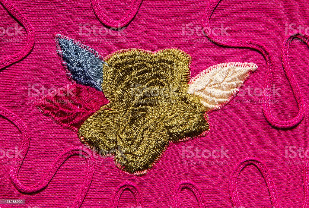 Flower sewing stock photo