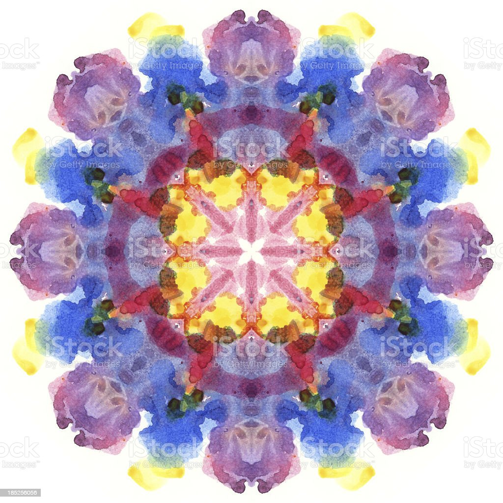 Flower shaped kaleidoscope image royalty-free stock photo