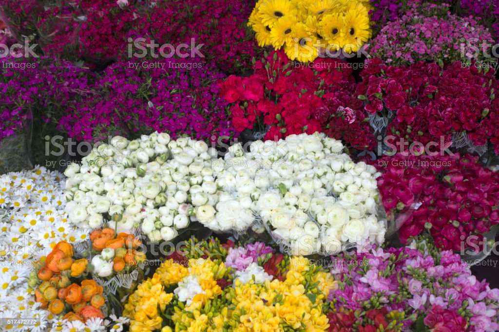 Flower shop Background stock photo