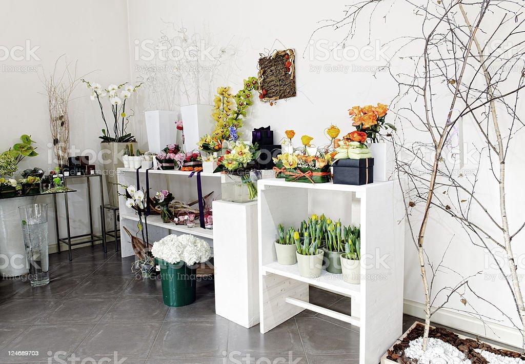 Flower Shop. Color Image stock photo