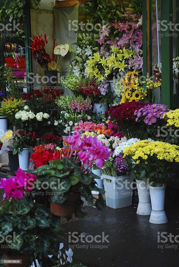 Flower shop in Italy royalty-free stock photo