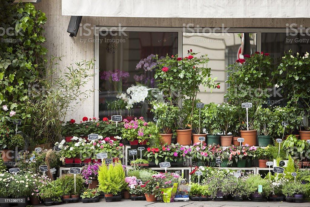 Flower Shop in Paris stock photo