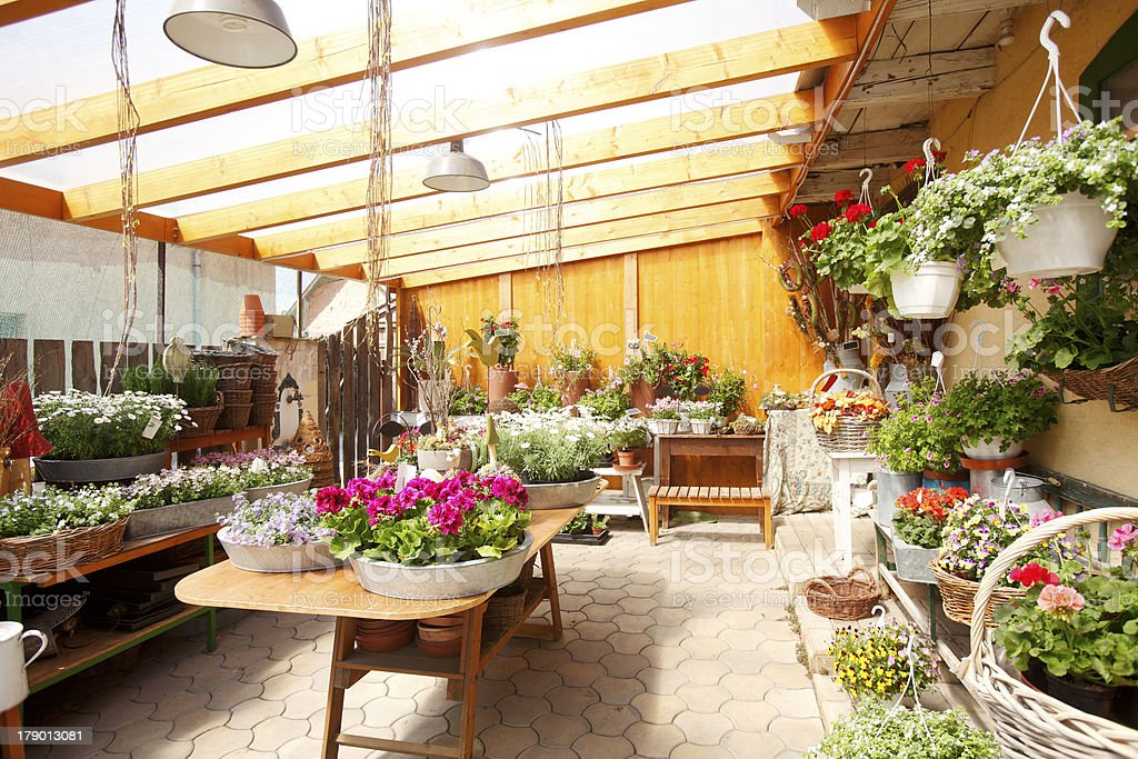 Flower Shop Interior stock photo