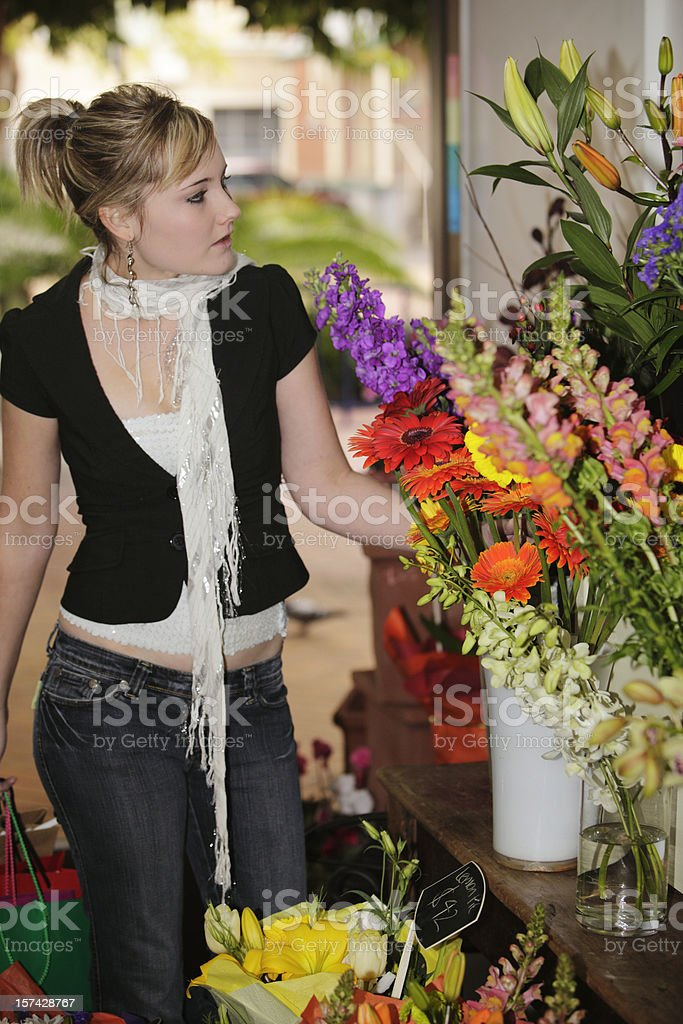 Flower Shopping royalty-free stock photo