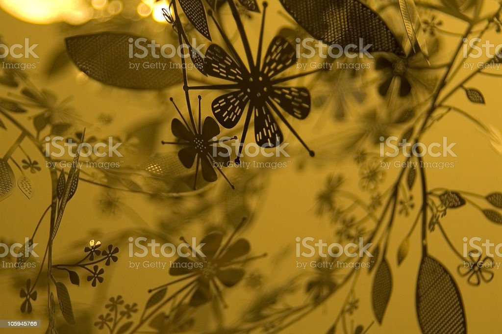 Flower Silhouette Graphic Background 2 royalty-free stock photo