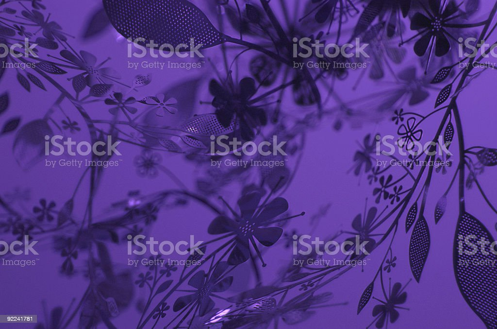 Flower Silhouette Graphic Background royalty-free stock photo